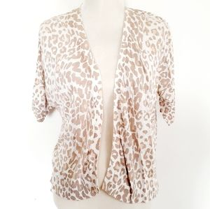 Old Navy Cardigan Size Large Leopard Print